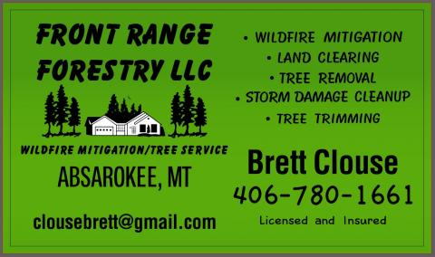 Front Range Forestry LLC located in Absarokee, MT