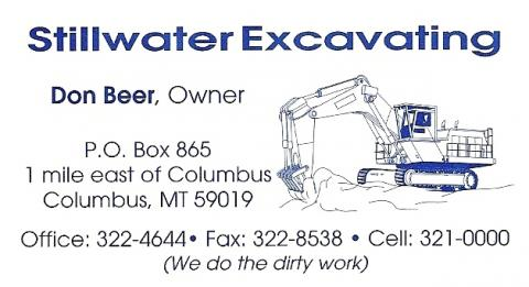 Stillwater Excavating located in Columbus, Montana