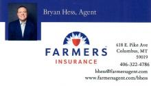 Farmers Insurance - Hess Insurance Agency located in Columbus, MT